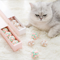 Handmade Plush Ball Stretch Bell Ball Cat Toy Set
