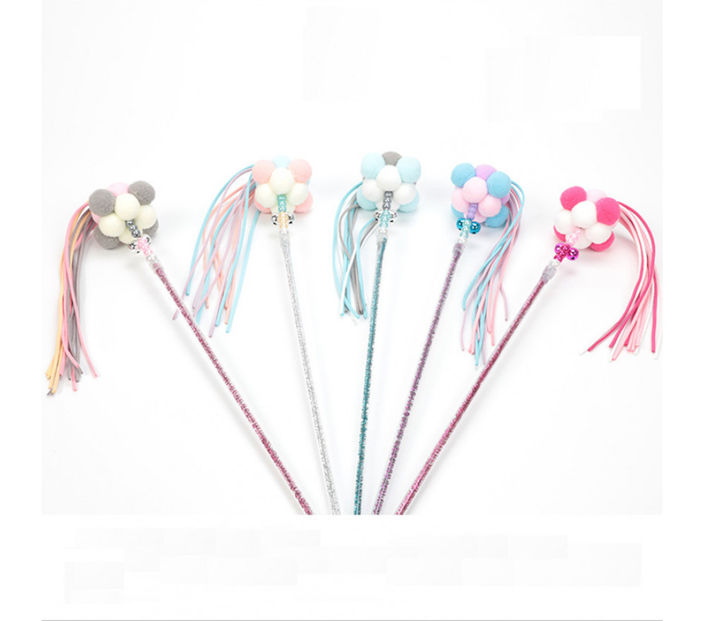 Colorful Tassel Fairy Stick Teaser Cat Toy