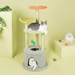 Flower Unique Cat tree Tower Climbing Cat Play House