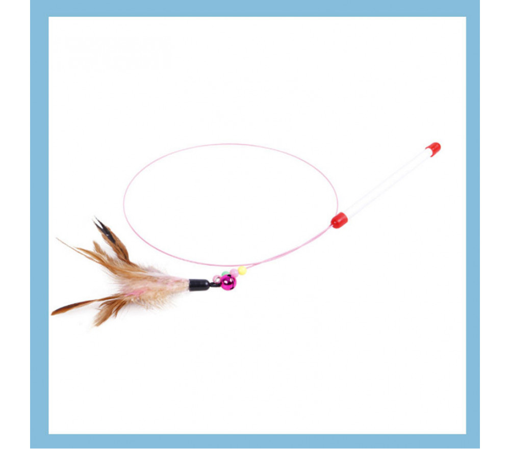 Metal Wire Feather Teaser Cat Toy