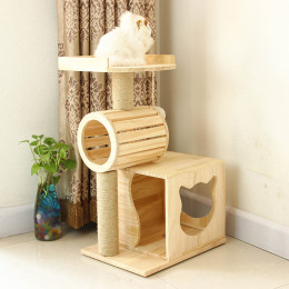 Cat Roller Condo Multi-layer Wooden Cat House Climbing Tower