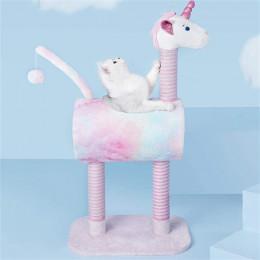 Fancy Unicorn Cat Tree Condo Tall Cat Tree Climbing Tower