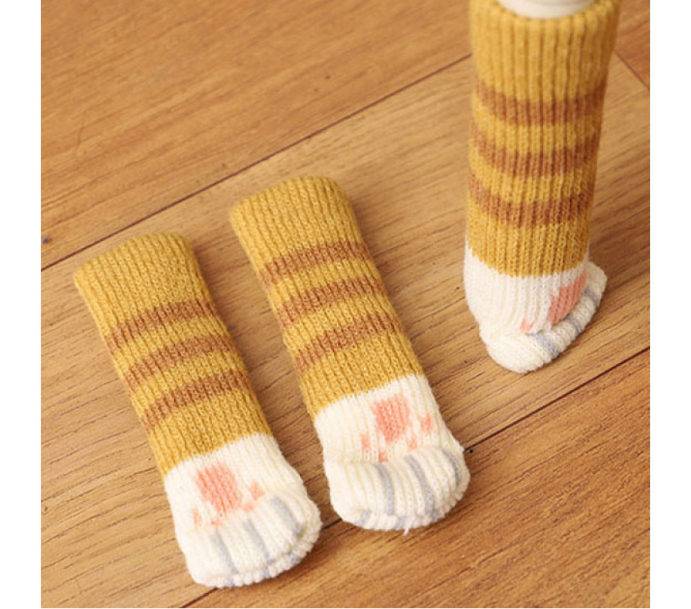 Cat Claw Pattern Double Knitted Furniture Feet Cover