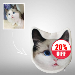 Pet Photo Personalized Coin Purse Animal Shaped Custom Printed Purses Bags
