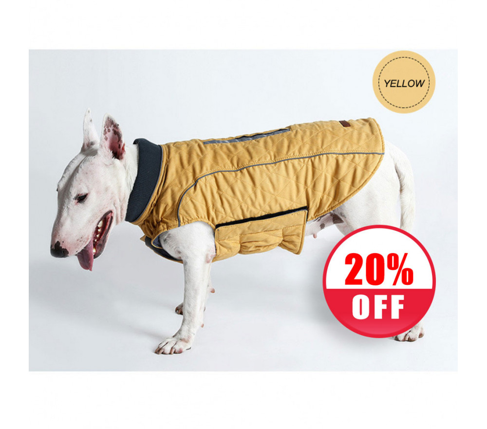 Dog Winter Coat with Harness Hole Vest Jackets