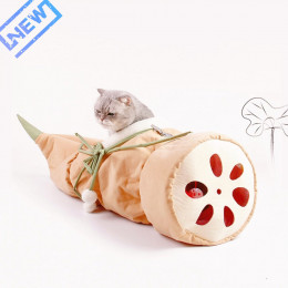 Lotus Root Cat Tunnels In House Tube Toy