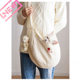 Small Dog Carrier Bag Soft Canvas Pet Sling Tote