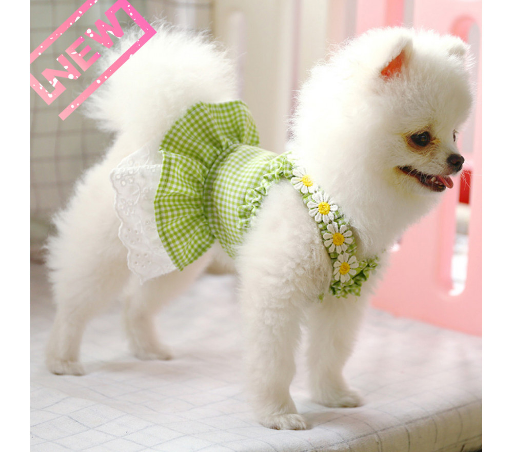 Little Daisy Dog Princess Dress For Small Dogs