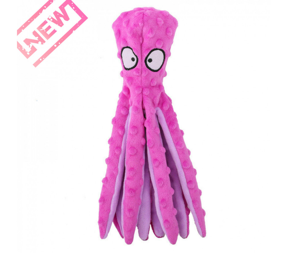 Plush Octopus Squeaky Toy Dog Chew Toy