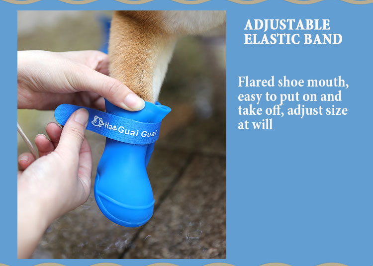 adjustable large dogs boots, easy to take on and off
