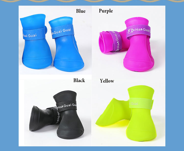 yellow dog rain boots, blue dog rain boots, black dog rain boots, purple dog rain boots