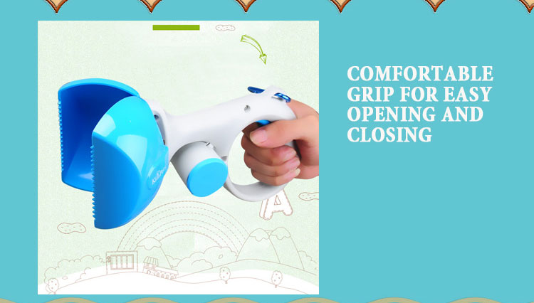 COMFORTABLE GRIP FOR EASY OPENING AND CLOSING