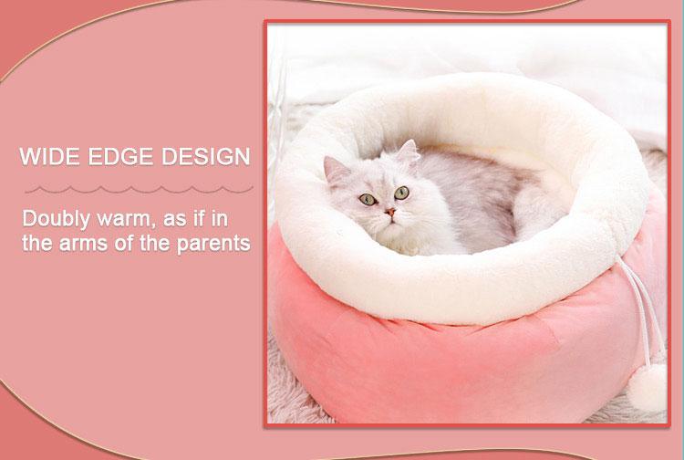 girls cat bedding, cotton cat bed