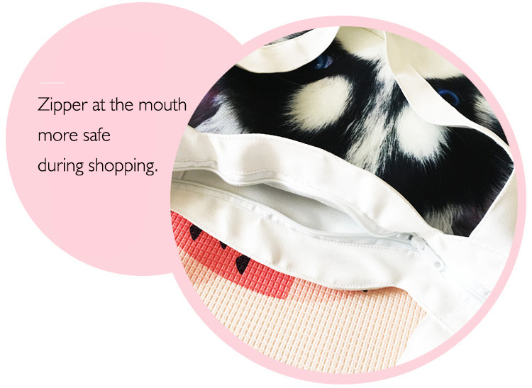 With zipper more safe during shopping