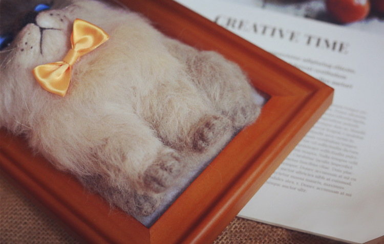 Needle Felt Cat: Product Display