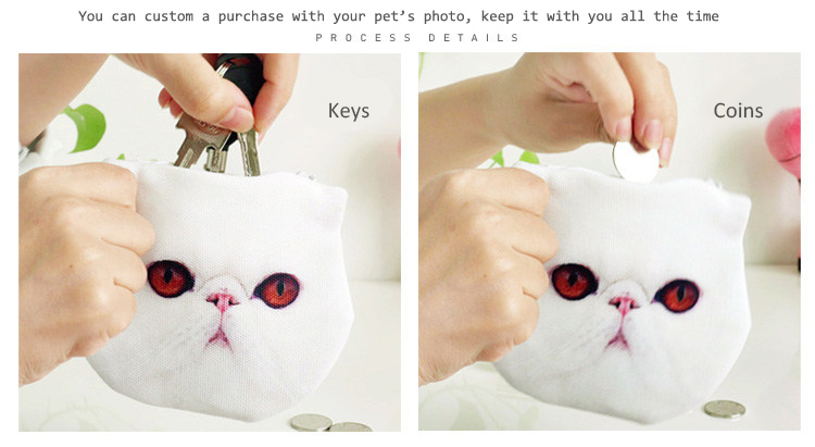 Practical pet-like coin purse
