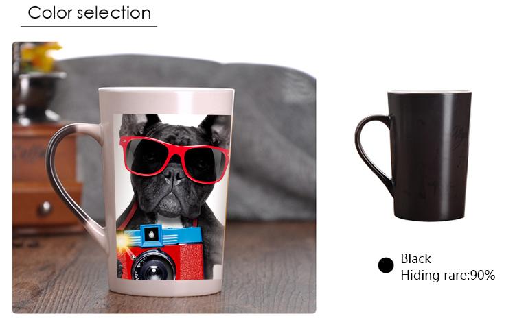 Heat Changing Mugs: Black Mug