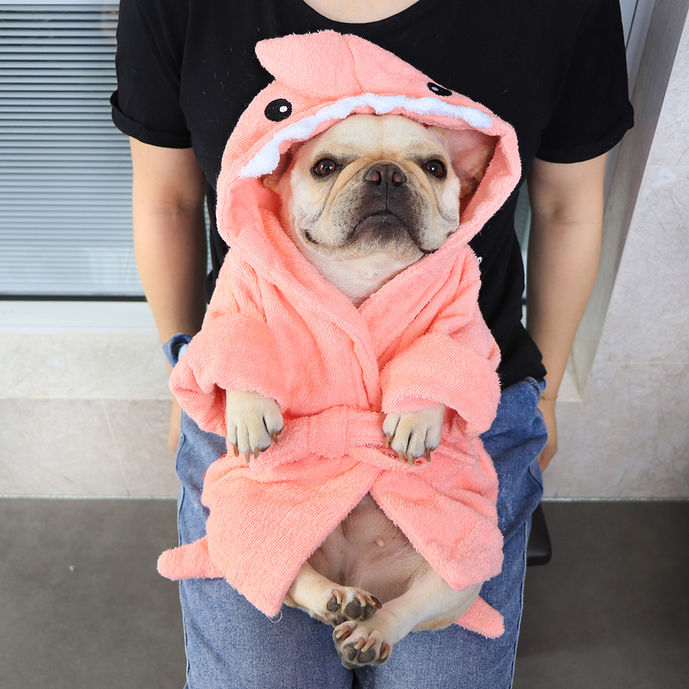 dog bathrobe towel,dog bathrobe,dog robe towel,dog drying coat,dog nightgown,robes for dogs
