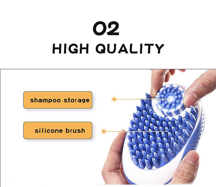 press to use shampoo