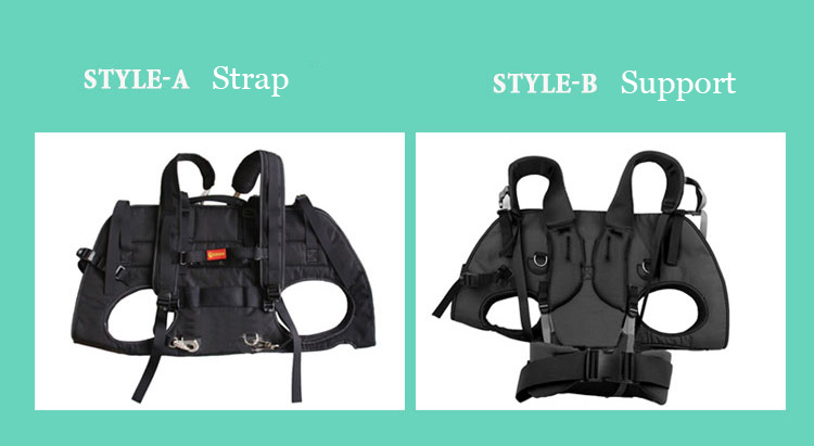 carrying big dog with 2 styles of support and strap