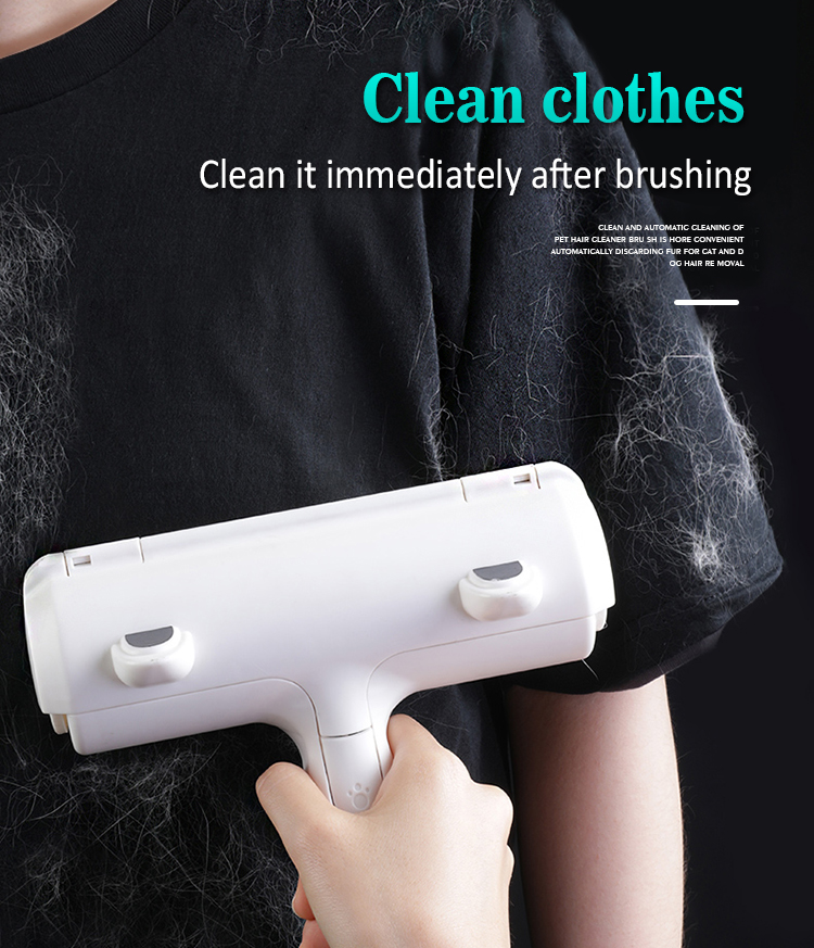 Clean clothes immediately after brushing