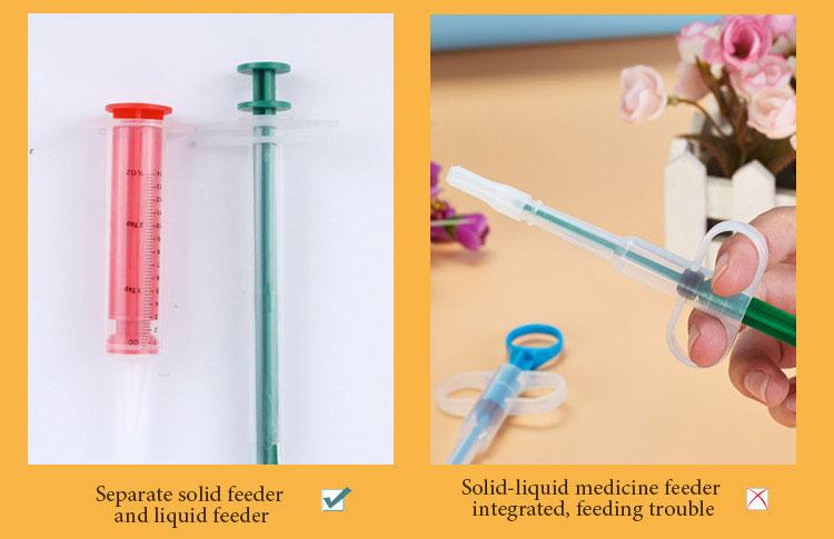 Separate solid feederand liquid feeder