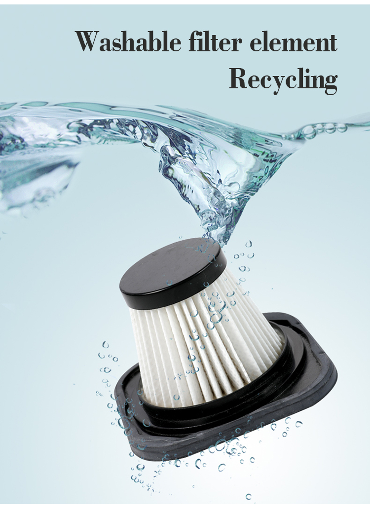 washable filter element recycling