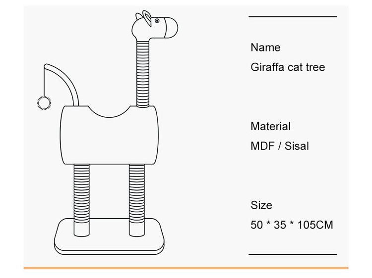 Giraffe Cat Tree Drawing