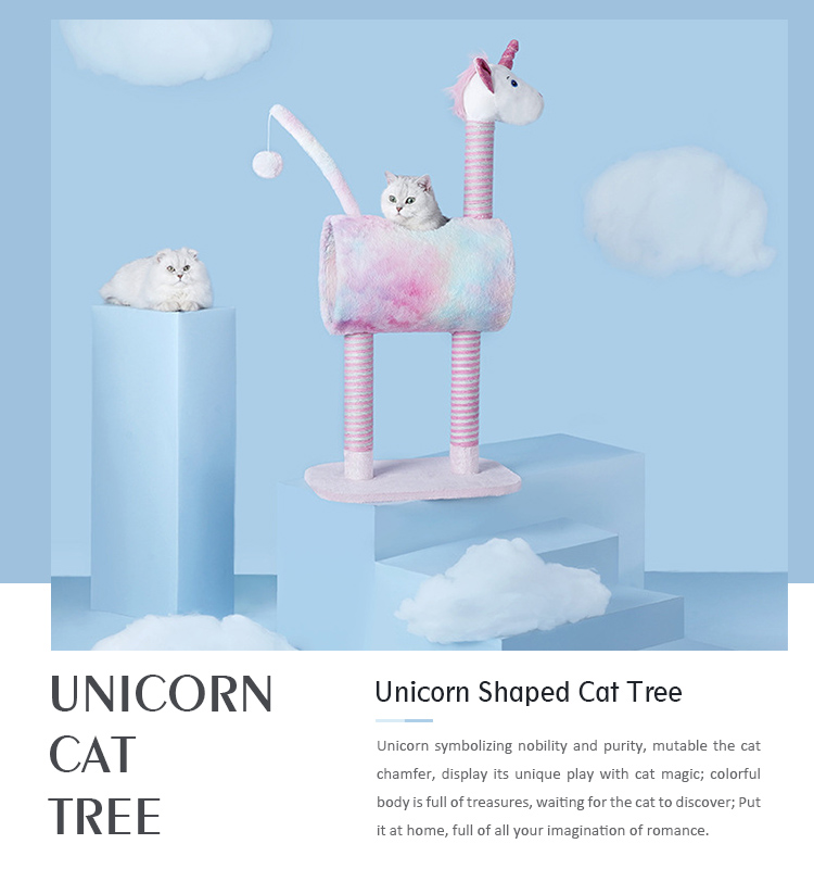 Unicorn Shaped Cat Tree